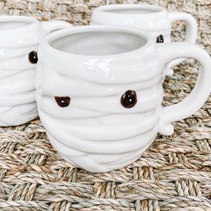 Threshold Set of 3 Halloween Mummy Mugs